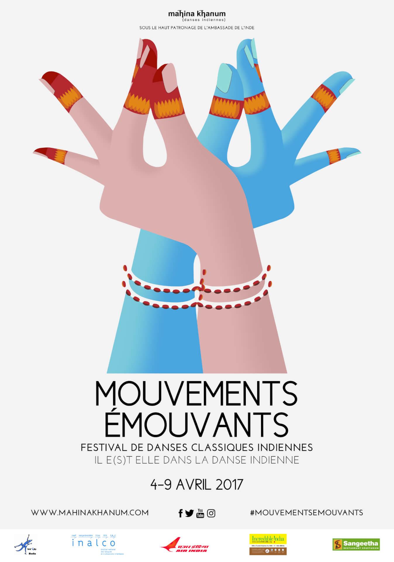 Mahina Khanum festival de danses classiques indiennes Mouvements émouvants