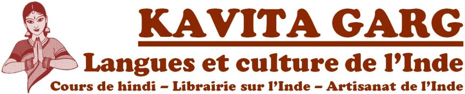 Ecole de langues et cultures indiennes Kavita Garg