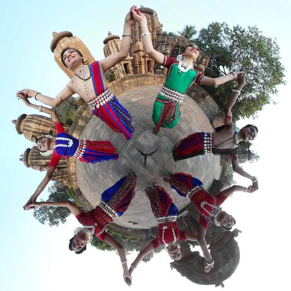 Festival de danses classiques indiennes Mouvements Emouvants Odissi dance indian classical dance 360 degrees video